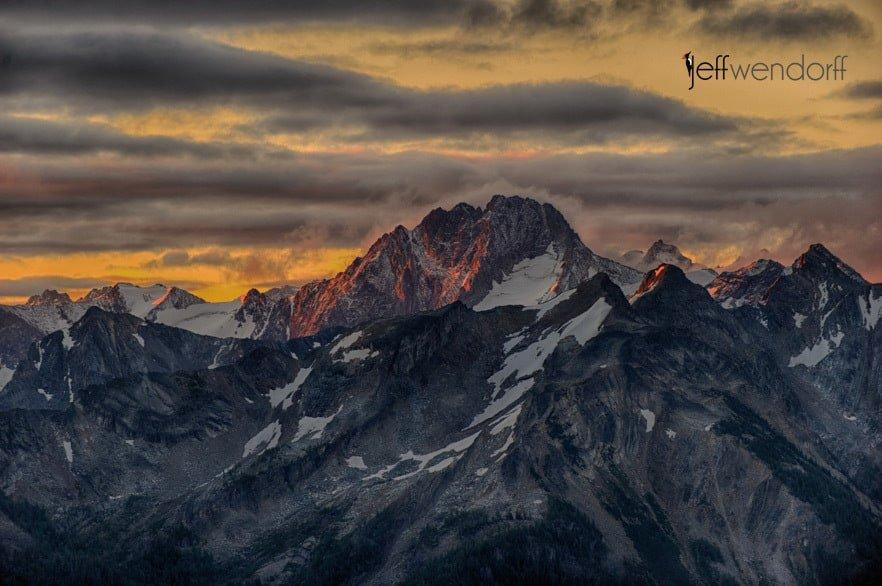 Bugaboo Mountain Sunrise photographed by Jeff Wendorff