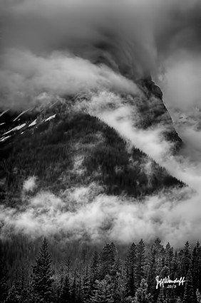 Storm over Glacier park photographed by Jeff Wendorff